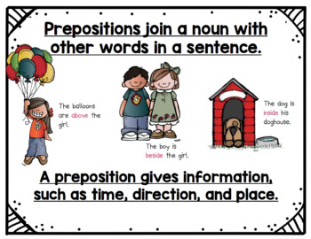 I have a Preposition For You! Common Core Activity Pack