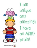 I have an ADHD Brain story - Colour and B&W