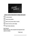I have extra homework because...