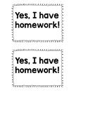 I have homework reminder