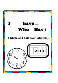 I have... who has? A time game