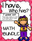 I have, who has, BUNDLE (shapes, numbers, ten frames, plac