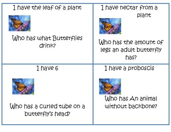 I have, who has Butterfly cards
