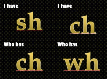 I have, who has CVC, Alphabet, Magic E, Digraphs and template ( 4 versions)