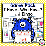 CVC and CVCe I Have Who Has and Bingo Games