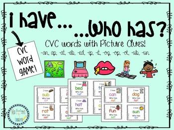 I have who has CVC words