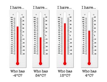 I have, who has Celsius Temperature Game