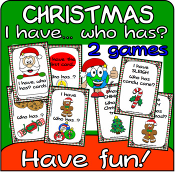 I have... who has? Christmas game (cards)