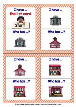 I have who has | Community Buildings