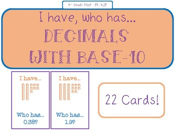 I have, who has... Decimals with Base-10