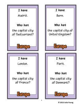 I have.. who has... European Capital Cities