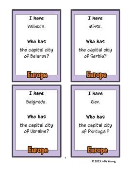 I have.. who has... European Capital Cities