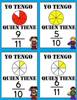 I have who has Fractions in Spanish!!
