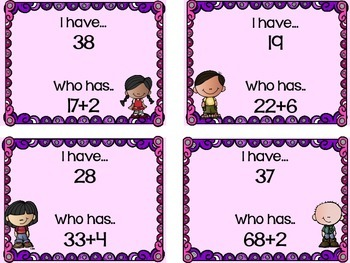 I have who has Game Adding 2 digit and 1 digit number