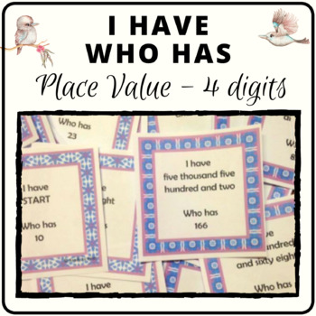 I have who has place value game in number and word format for up to four digits