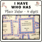 I have who has place value game in number and word format