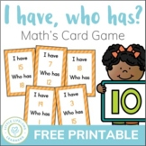 I have, who has? Math Game for Revising Numbers from 0 to 20 - FREE
