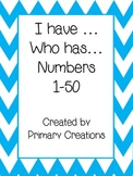 I have, who has Numbers 1-50