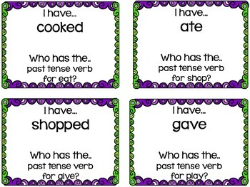 I have who has Past Tense Verbs