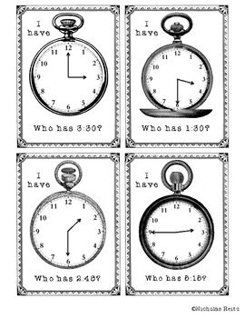 I have, who has Telling Time and Elapsed Time