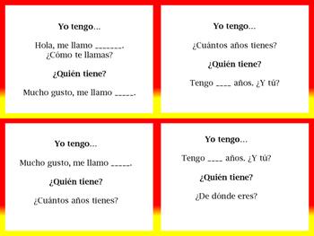 I have...who has/Yo tengo, quien tiene?