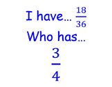 I have, who has decimals and fraction conversions.