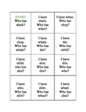 I have who has - digraph game