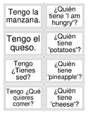I have/who has: food vocabulary in Spanish
