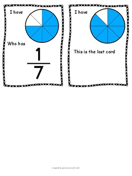 I have, who has fraction circles and numbers