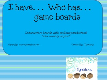 I have, who has game board