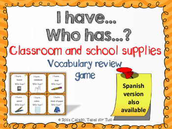 I have who has game ~ classroom and school supplies