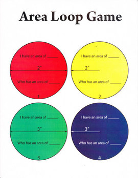 I have who has game for area of circles