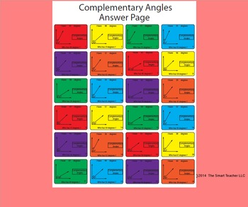 I have who has game for complementary angles.