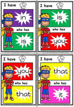 I have ,...... who has game for sight words(FREE)