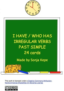 I have, who has irregular verbs past simple - 24 cards