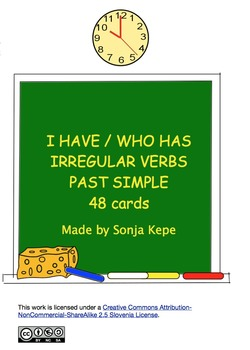 I have, who has irregular verbs past simple - 48 cards