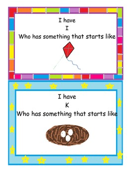I Have __, Who Has __? Letter Sounds Game!