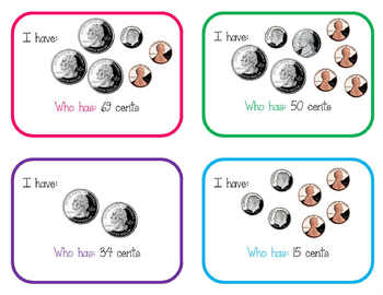 I have, who has - money amounts (2.MD.8)