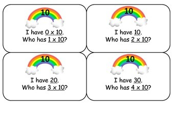 I have, who has multiplication facts