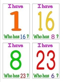 I have who has number cards 1 - 30 Group Game Number Recog