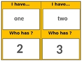 I have who has number words