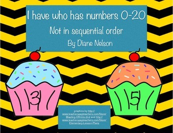 I have who has numbers 0-20 cupcake theme (Not in sequential order)