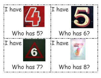 I have ... who has? (numbers 1-10)