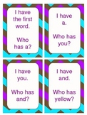 I have, who has? sight word games
