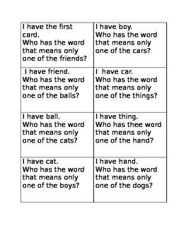 I have who has singular nouns
