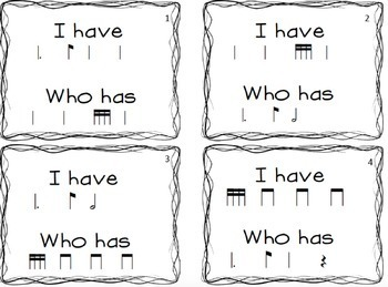 I have/ who has tam-ti game