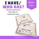 I have/ who has tika-tika game