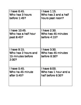 I have who has time