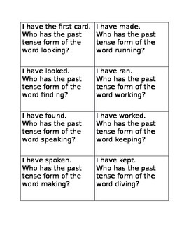 I have who has verb tenses