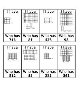 I have with base 10 blocks